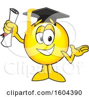 Clipart Of A Smiley Emoji School Mascot Character Graduate Royalty Free Vector Illustration by Toons4Biz