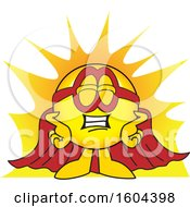 Poster, Art Print Of Smiley Emoji School Mascot Character Super Hero