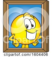 Clipart Of A Smiley Emoji School Mascot Character Portrait Royalty Free Vector Illustration by Toons4Biz