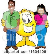 Poster, Art Print Of Smiley Emoji School Mascot Character With Parents