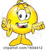 Poster, Art Print Of Smiley Emoji School Mascot Character Shrugging