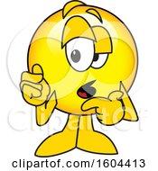 Poster, Art Print Of Smiley Emoji School Mascot Character Making Excuses
