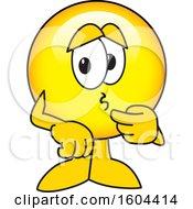 Poster, Art Print Of Smiley Emoji School Mascot Character Worrying