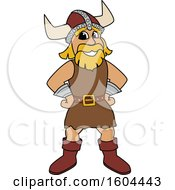 Clipart Of A Male Viking School Mascot Character With Hands On His Hips Royalty Free Vector Illustration
