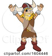 Male Viking School Mascot Character Welcoming