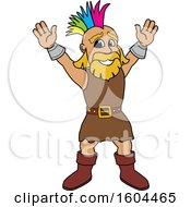 Clipart Of A Male Viking School Mascot Character With A Mohawk Royalty Free Vector Illustration by Toons4Biz