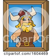Clipart Of A Male Viking School Mascot Character Portrait Royalty Free Vector Illustration by Toons4Biz