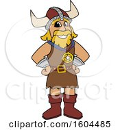 Clipart Of A Male Viking School Mascot Character Wearing A Sports Medal Royalty Free Vector Illustration