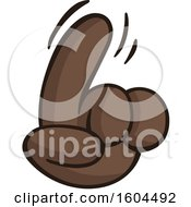 Clipart Of A Cartoon Brown Hand Wagging A Finger Royalty Free Vector Illustration