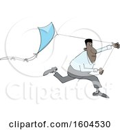 Black Man Running With A Kite