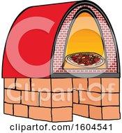 Cartoon Brick Oven Pizza