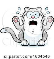Poster, Art Print Of Cartoon Scared Kitty Cat