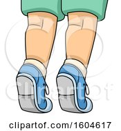 Clipart Of A Child Standing On Their Tip Toes Royalty Free Vector Illustration