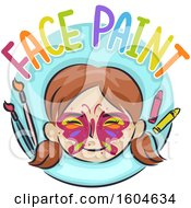 Poster, Art Print Of Girl With A Butterfly Painted On Her Face