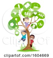 Speech Bubble Tree And Children