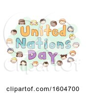 Sketched United Nations Day Design With Faces Of Children