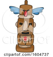 Clipart Of A Native American Totem Pole Royalty Free Vector Illustration