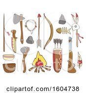 Clipart Of Native American Accessories Royalty Free Vector Illustration