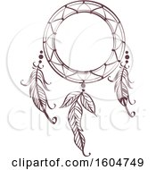 Clipart Of A Boho Styled Dream Catcher Royalty Free Vector Illustration