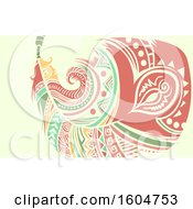 Clipart Of A Tribal Styled Feather Royalty Free Vector Illustration