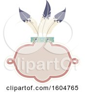 Clipart Of A Frame With Feathers Royalty Free Vector Illustration