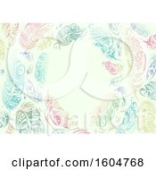 Clipart Of A Frame Of Colorful Feathers Royalty Free Vector Illustration