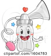 Clipart Of A Manual Breast Pump Mascot Royalty Free Vector Illustration