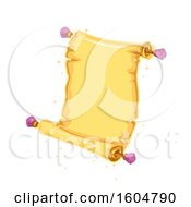 Clipart Of A Magical Open Scroll Royalty Free Vector Illustration