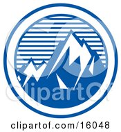 Mountain Peaks Clipart Illustration