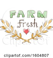 Farm Fresh Design Of A Heart And Wheat