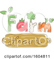 Clipart Of A Farm Fresh Design With Veggies Royalty Free Vector Illustration