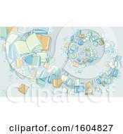 Poster, Art Print Of Sketched Spiral Of Books