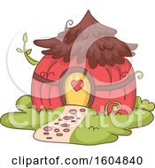 Clipart Of A Fairy House Royalty Free Vector Illustration by BNP Design Studio