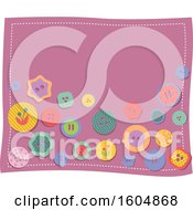 Clipart Of Colorful Buttons On A Patch Royalty Free Vector Illustration