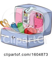 Clipart Of A Sewing Kit Royalty Free Vector Illustration by BNP Design Studio