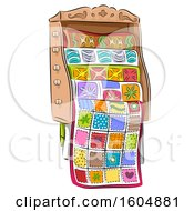 Clipart Of A Full Quilt Rack Royalty Free Vector Illustration