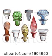 August 14th, 2018: Clipart Of Glass Stoppers Royalty Free Vector Illustration by BNP Design Studio