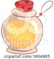 Clipart Of A Bottled Potion Royalty Free Vector Illustration