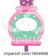 Clipart Of A Pink And Green Potion Bottle Royalty Free Vector Illustration