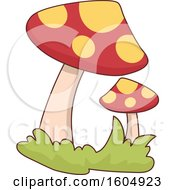 Clipart Of Magical Mushrooms Royalty Free Vector Illustration by BNP Design Studio
