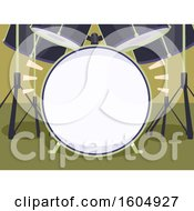 Clipart Of A Drum Set Frame Royalty Free Vector Illustration