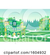 Poster, Art Print Of Garden City With Plants And Trees