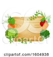 Cutting Board Framed With Vegetables And Greens
