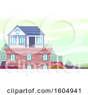 Small House Built On The Rooftop Of A Building