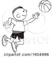 Black Boy Playing Basketball