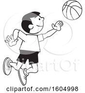 Boy Playing Basketball