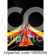 Colorful Abstract Design On Black