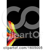 August 15th, 2018: Clipart Of A Colorful Abstract Design On Black Royalty Free Vector Illustration by dero