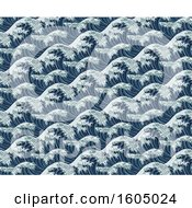 Seamless Pattern Of Japanese Great Waves