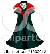 Clipart Of A Vampire Royalty Free Vector Illustration by Vector Tradition SM